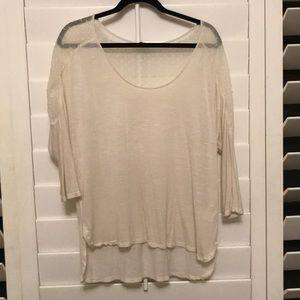 Lucky Brand Long sleeve cream color shirt!